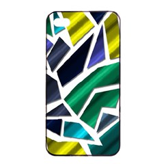 Mosaic Shapes Apple iPhone 4/4s Seamless Case (Black)
