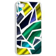 Mosaic Shapes Apple iPhone 4/4s Seamless Case (White)