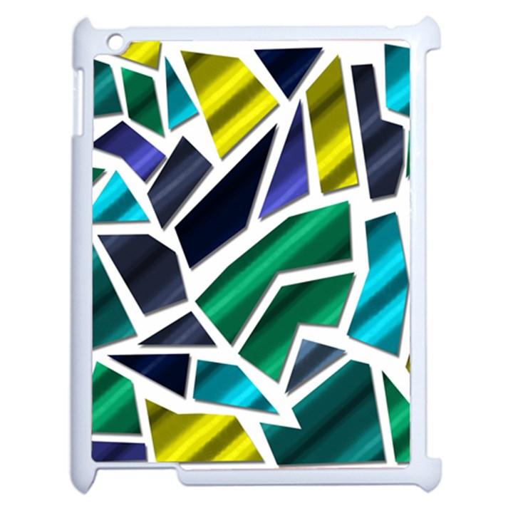 Mosaic Shapes Apple iPad 2 Case (White)