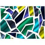 Mosaic Shapes Circle 3D Greeting Card (7x5) Back
