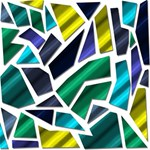 Mosaic Shapes ENGAGED 3D Greeting Card (8x4) Inside