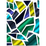 Mosaic Shapes Get Well 3D Greeting Card (7x5) Inside