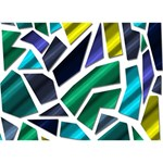 Mosaic Shapes Get Well 3D Greeting Card (7x5) Back