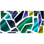 Mosaic Shapes Laugh Live Love 3D Greeting Card (8x4) Front