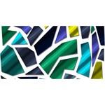 Mosaic Shapes Laugh Live Love 3D Greeting Card (8x4) Back