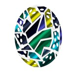 Mosaic Shapes Oval Filigree Ornament (2-Side)  Front