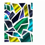 Mosaic Shapes Large Garden Flag (Two Sides) Front