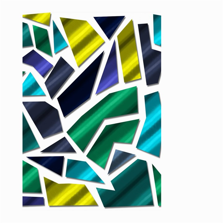 Mosaic Shapes Large Garden Flag (Two Sides)