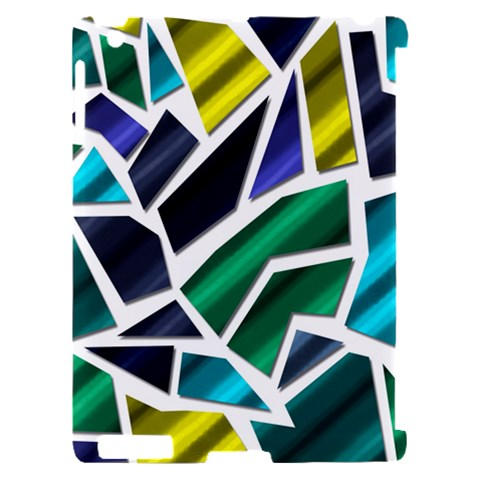 Mosaic Shapes Apple iPad 2 Hardshell Case (Compatible with Smart Cover)