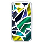 Mosaic Shapes Samsung Galaxy S III Case (White) Front