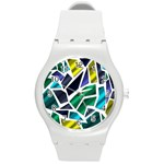 Mosaic Shapes Round Plastic Sport Watch (M) Front
