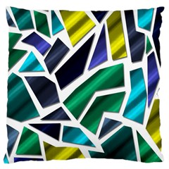 Mosaic Shapes Large Cushion Case (Two Sides)