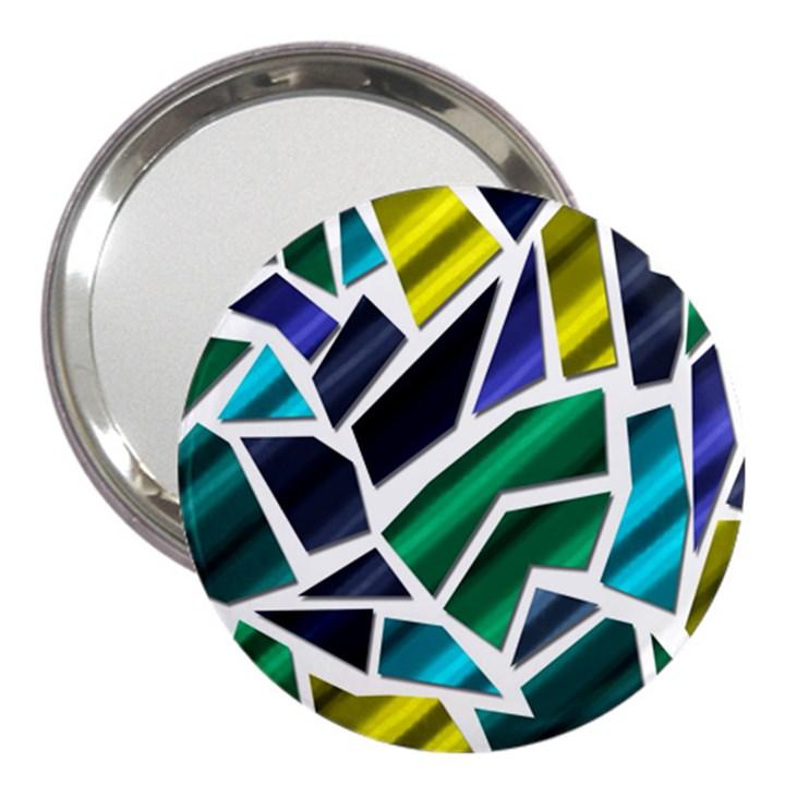 Mosaic Shapes 3  Handbag Mirrors
