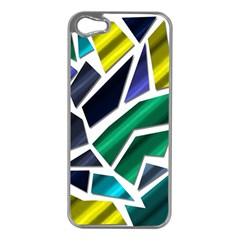 Mosaic Shapes Apple iPhone 5 Case (Silver)