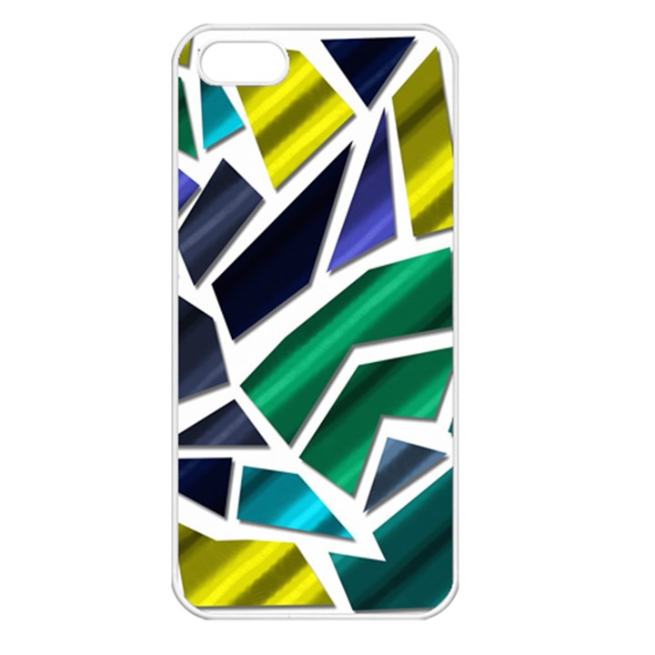 Mosaic Shapes Apple iPhone 5 Seamless Case (White)