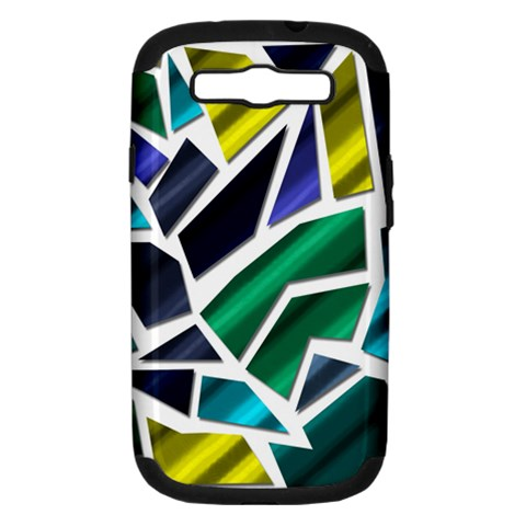 Mosaic Shapes Samsung Galaxy S III Hardshell Case (PC+Silicone)