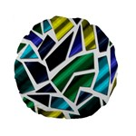 Mosaic Shapes Standard 15  Premium Round Cushions Front