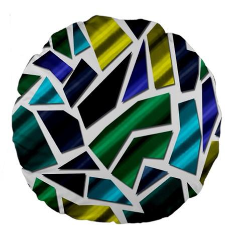 Mosaic Shapes Large 18  Premium Round Cushions