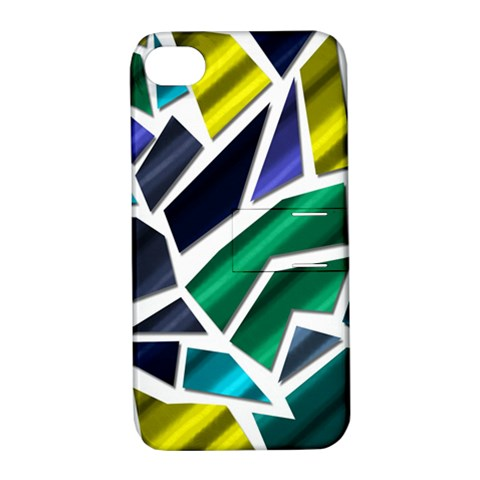 Mosaic Shapes Apple iPhone 4/4S Hardshell Case with Stand