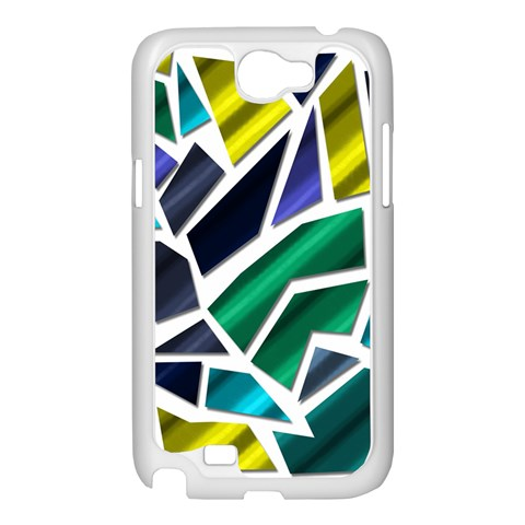 Mosaic Shapes Samsung Galaxy Note 2 Case (White)