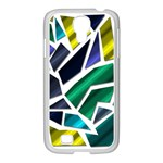 Mosaic Shapes Samsung GALAXY S4 I9500/ I9505 Case (White) Front