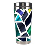 Mosaic Shapes Stainless Steel Travel Tumblers Left