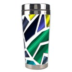 Mosaic Shapes Stainless Steel Travel Tumblers Center