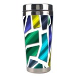 Mosaic Shapes Stainless Steel Travel Tumblers Right