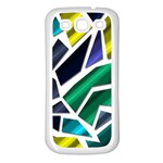 Mosaic Shapes Samsung Galaxy S3 Back Case (White) Front