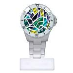 Mosaic Shapes Plastic Nurses Watch Front