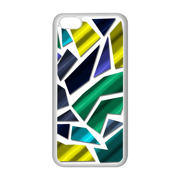 Mosaic Shapes Apple iPhone 5C Seamless Case (White)
