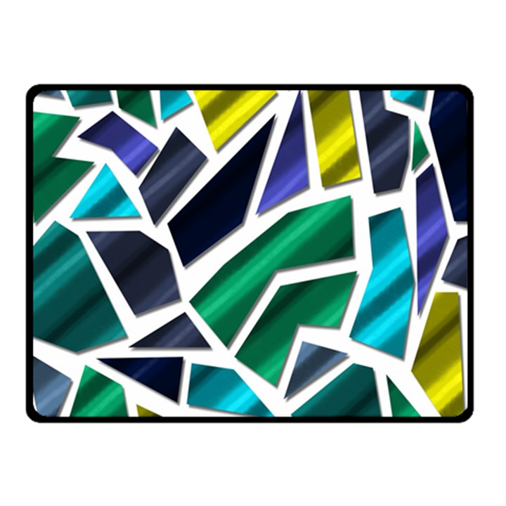 Mosaic Shapes Double Sided Fleece Blanket (Small)