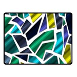 Mosaic Shapes Double Sided Fleece Blanket (Small)  50 x40 Blanket Back