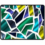 Mosaic Shapes Double Sided Fleece Blanket (Medium)  60 x50 Blanket Front