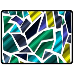 Mosaic Shapes Double Sided Fleece Blanket (Large)