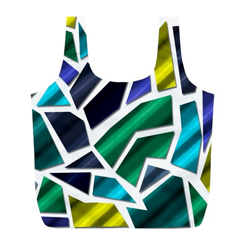 Mosaic Shapes Full Print Recycle Bags (L)