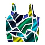 Mosaic Shapes Full Print Recycle Bags (L)  Back