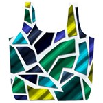 Mosaic Shapes Full Print Recycle Bags (L)  Front