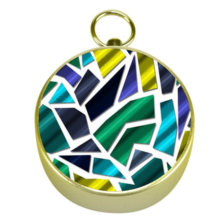 Mosaic Shapes Gold Compasses