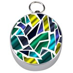 Mosaic Shapes Silver Compasses Front