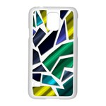 Mosaic Shapes Samsung Galaxy S5 Case (White) Front