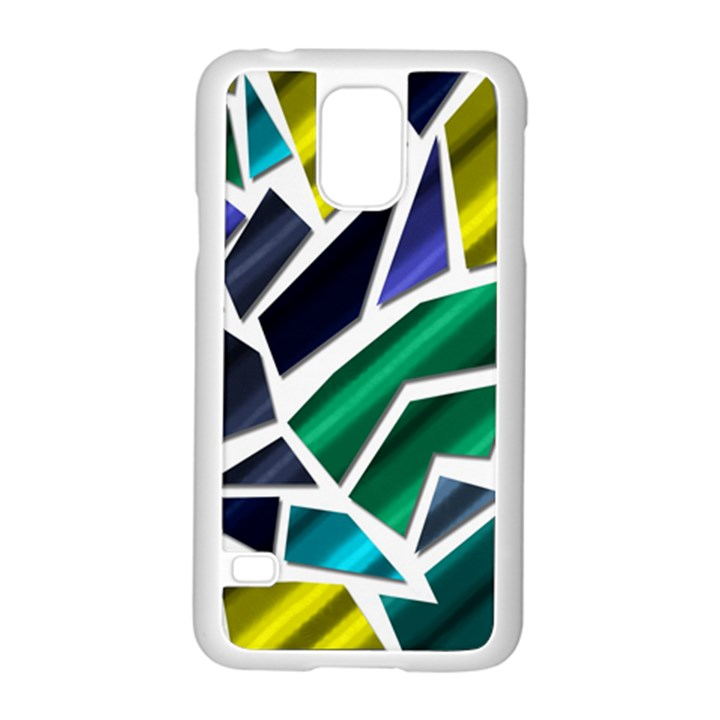 Mosaic Shapes Samsung Galaxy S5 Case (White)