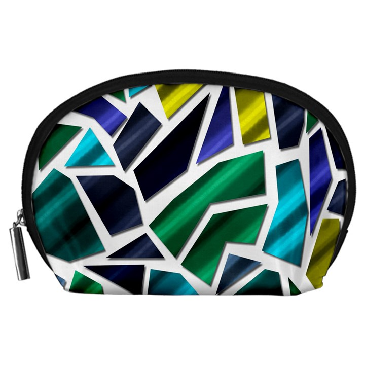 Mosaic Shapes Accessory Pouches (Large)