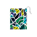 Mosaic Shapes Drawstring Pouches (Small)  Front