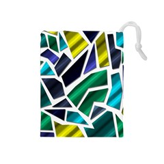 Mosaic Shapes Drawstring Pouches (Medium)