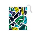 Mosaic Shapes Drawstring Pouches (Medium)  Front