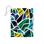 Mosaic Shapes Drawstring Pouches (Medium)  Back