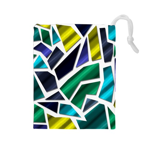 Mosaic Shapes Drawstring Pouches (Large)