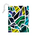 Mosaic Shapes Drawstring Pouches (Large)  Back