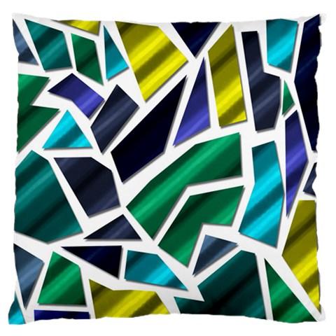 Mosaic Shapes Large Flano Cushion Case (One Side)